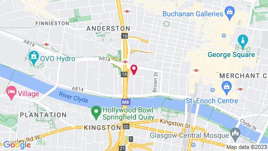 Glasgow Argyle Hotel, BW Signature Collection Map