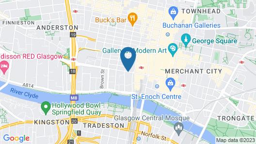 Radisson Blu Hotel, Glasgow Map