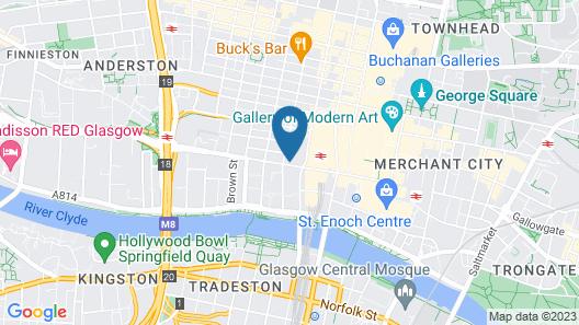 YOTEL Glasgow Map