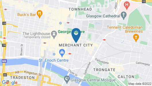 The Spires Glasgow Map