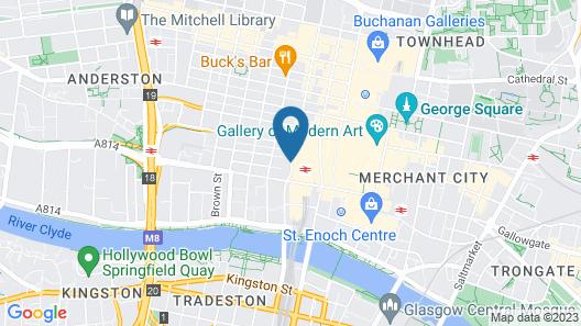 Artto Hotel Glasgow Map