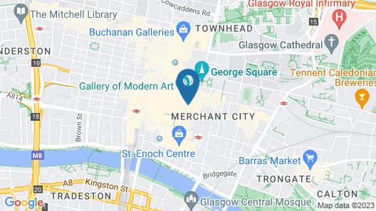 Travelodge Glasgow Queen Street Map
