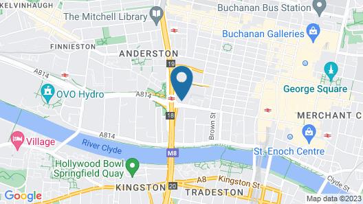 Glasgow Marriott Hotel Map