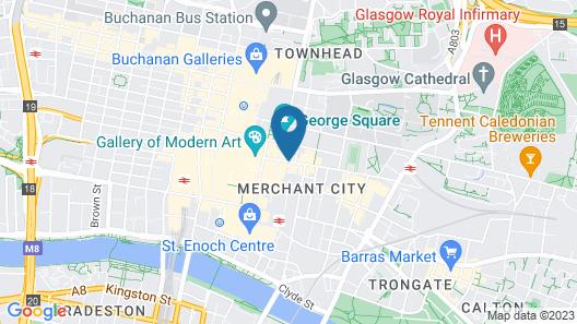 Mercure Glasgow City Hotel Map