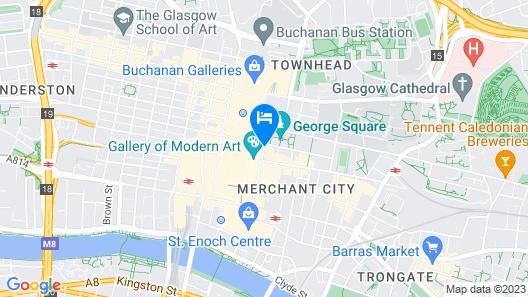 PREMIER SUITES PLUS Glasgow George Square Map