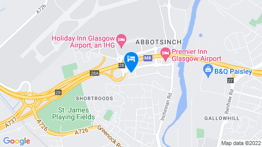 Courtyard by Marriott Glasgow Airport Map