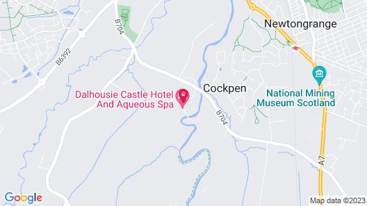 Dalhousie Castle Hotel & Spa Map