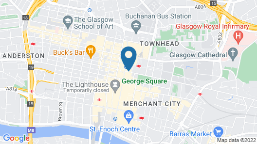 Carlton George Hotel Map