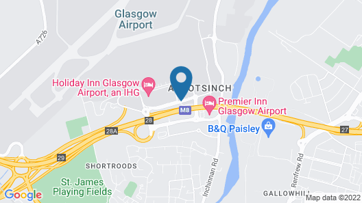 Holiday Inn Express Glasgow Airport Map