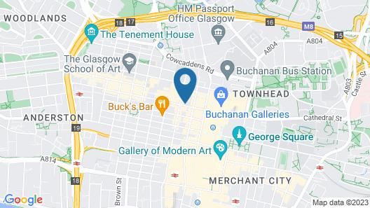 Point A Hotel Glasgow Map