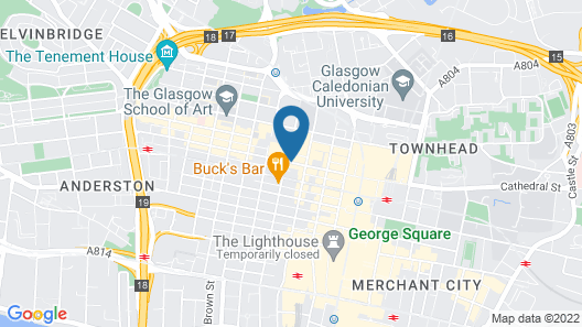 Apex City of Glasgow Hotel Map