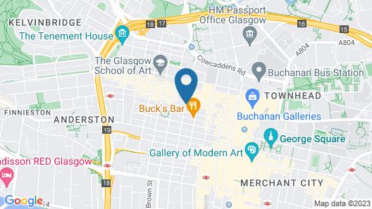 Hampton by Hilton Glasgow Central Map