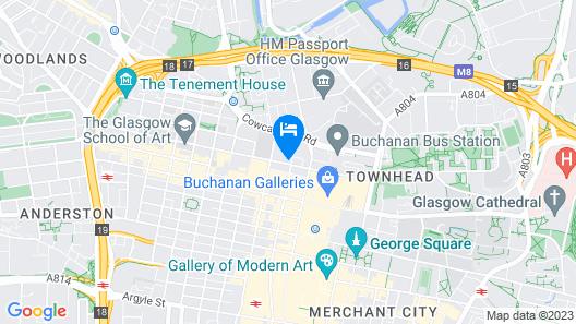 Maldron Hotel Glasgow City Map