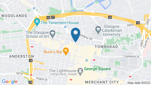 citizenM Hotel Glasgow Map
