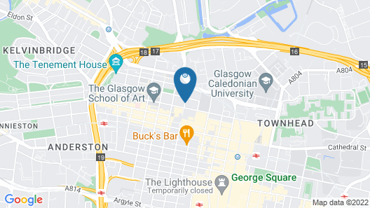 DoubleTree by Hilton Glasgow Central Map