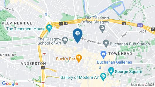 easyHotel Glasgow Map