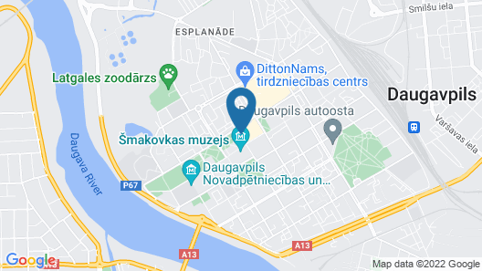 Park Hotel Latgola Map