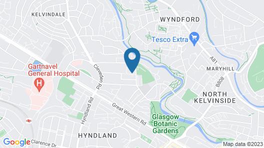 Glasgow University - Queen Margaret Residences Map