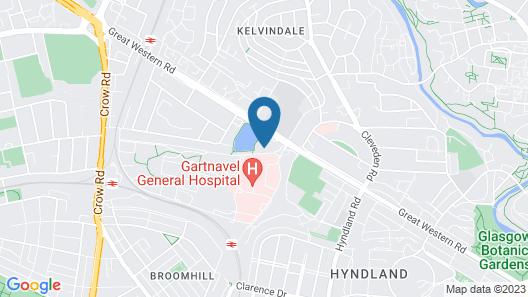Leonardo Inn Glasgow West End Map