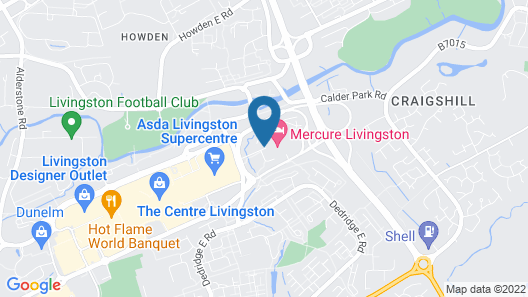 Mercure Livingston Hotel Map