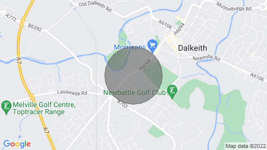 Edinburgh, Dalkeith , Eskbank , vacation rental Map