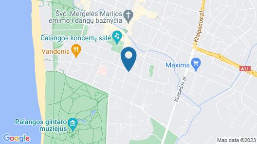Medziotoju apartments Map