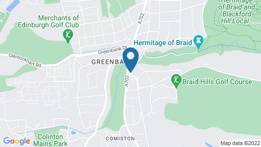 Best Western Edinburgh South Braid Hills Hotel Map