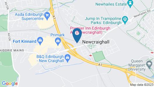 Premier Inn Edinburgh A1 (Newcraighall) Map