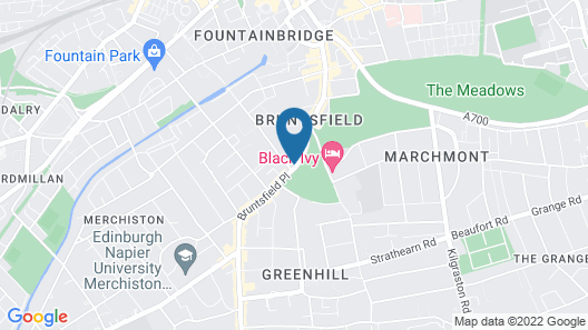 Best Western Plus Edinburgh City Centre Bruntsfield Hotel Map