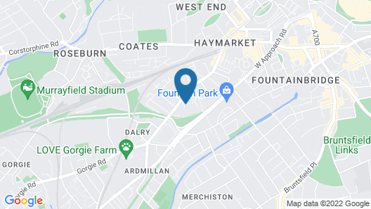 Dalry guesthouse Map