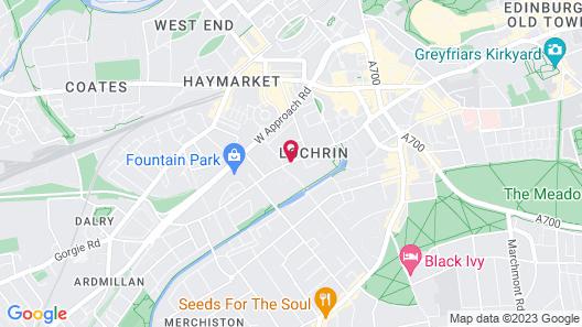 Hampton by Hilton Edinburgh West End Map