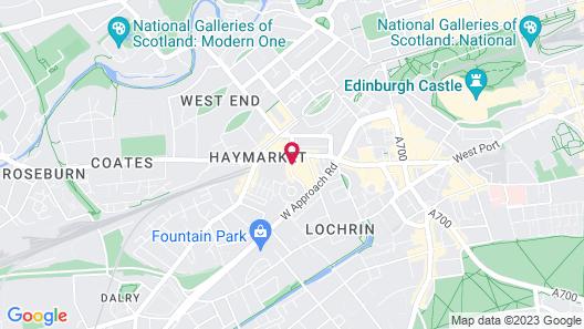 Leonardo Royal Edinburgh Haymarket Map