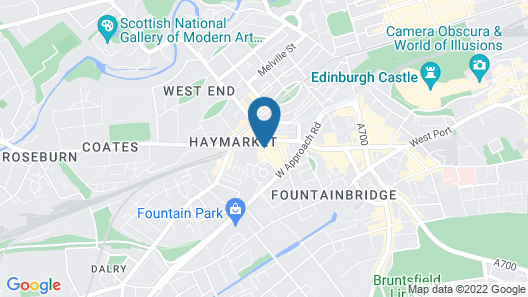 Leonardo Royal Edinburgh Haymarket Map