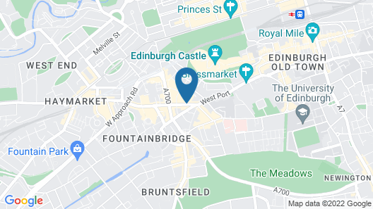 DoubleTree by Hilton Edinburgh City Centre Map