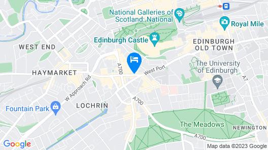 DoubleTree by Hilton Edinburgh City Centre Map
