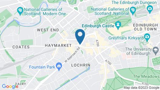 Point A Hotel Edinburgh Haymarket Map