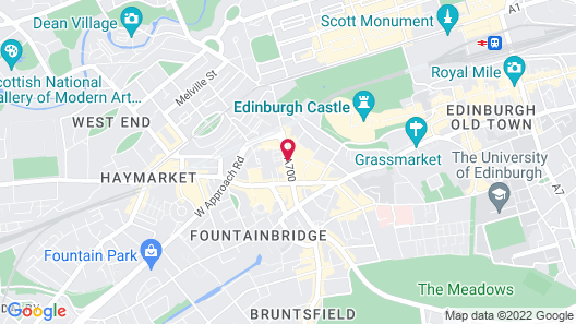 Sheraton Grand Hotel & Spa, Edinburgh Map