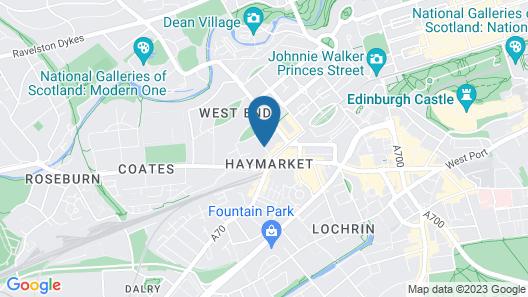 Edinburgh Grosvenor Hotel Map