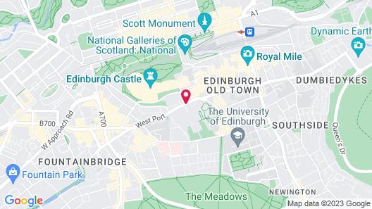 Apex City of Edinburgh Hotel Map