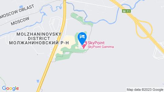 SkyPoint Sheremetyevo Hotel Map
