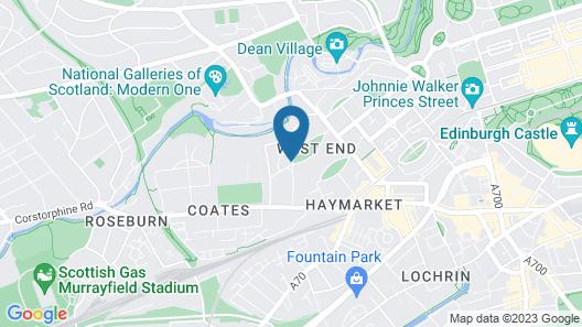 Travelodge Edinburgh Haymarket Map