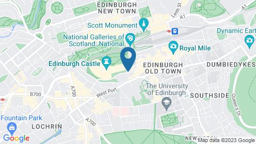 Castle Rock Hostel Map