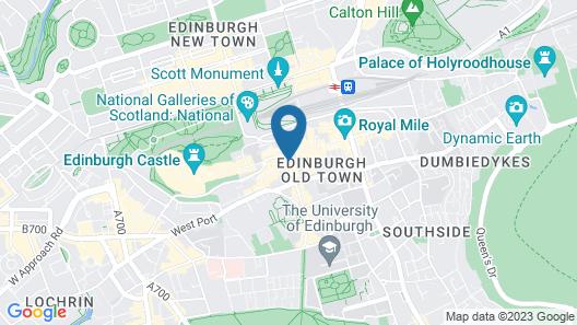 Radisson Collection Hotel, Royal Mile Edinburgh Map