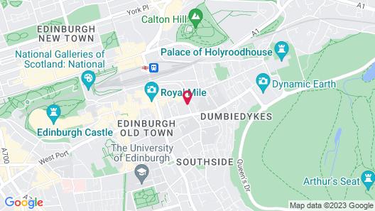 Travelodge Edinburgh Central Map