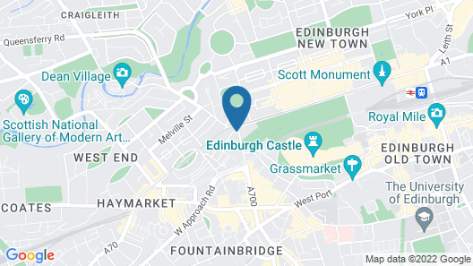 Waldorf Astoria Edinburgh - The Caledonian Map