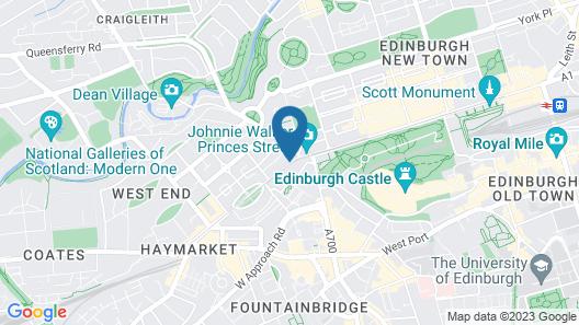Cityroomz Edinburgh Map