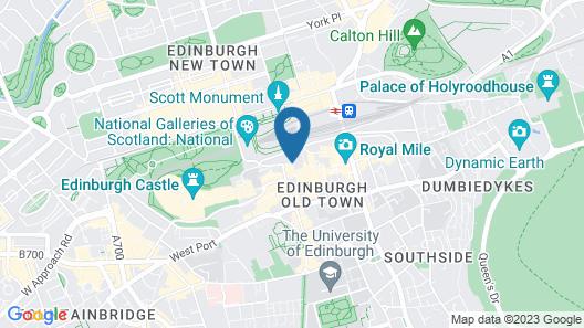 Fraser Suites Edinburgh Map