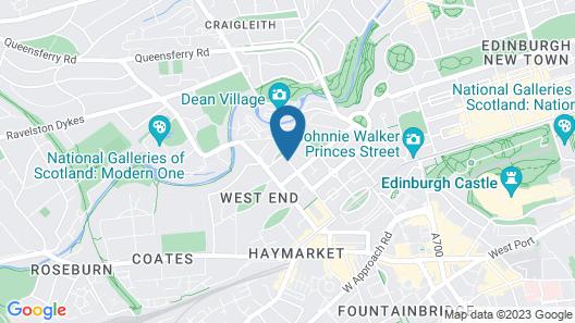 Edinburgh Thistle Hotel Map