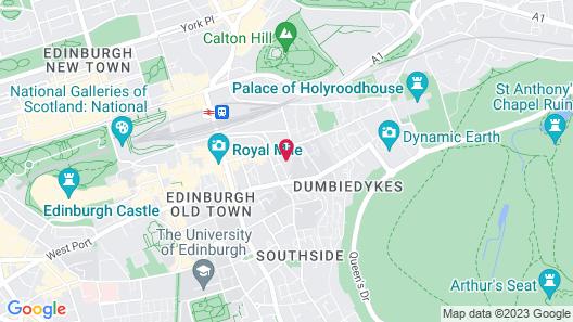 Edinburgh Landmarks Apartments Map