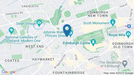 Princes Street Party Palace Edinburgh Map
